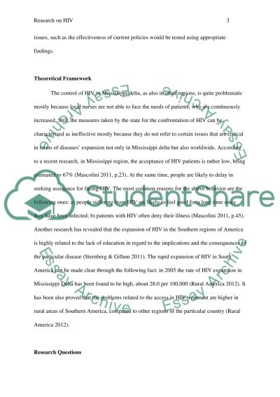 Research on HIV essay example