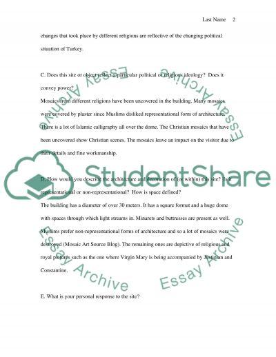 Site Visit Report essay example