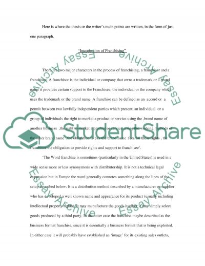 Can Franchising as a strategy help organization gain market share globally case study as Starbucks essay example
