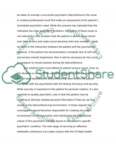 Telehealth Nursing Research essay example