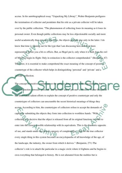 Personal and Privat Collection essay example