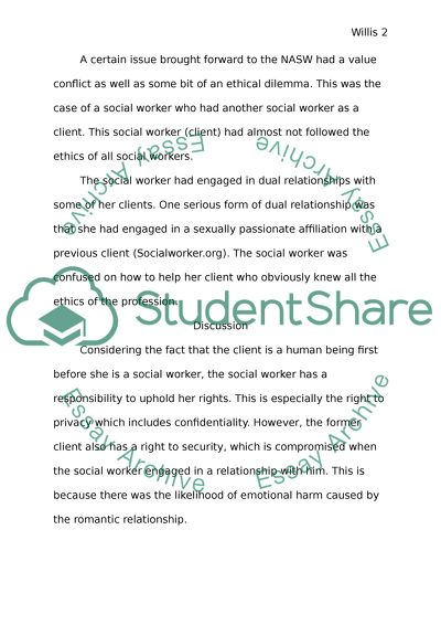 Code of Ethics of the National Association of Social Workers