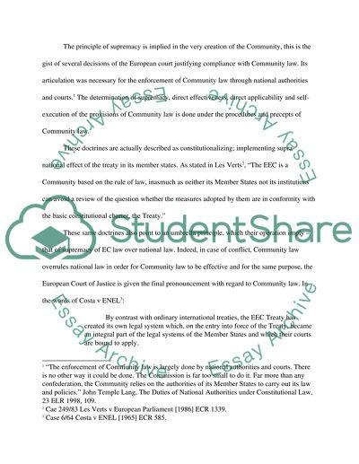 English Legal System Essay