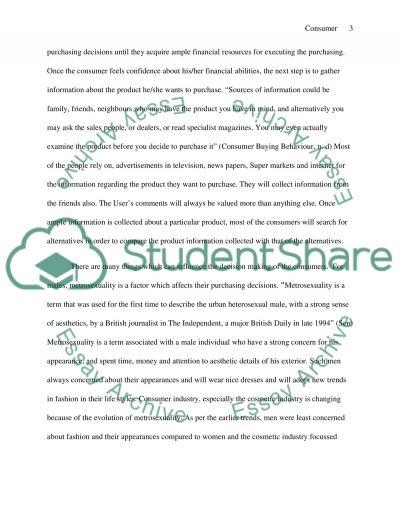 Consumer decision making essay example