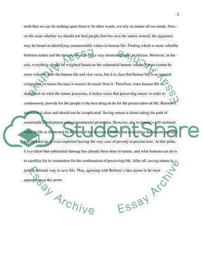 nature essay example