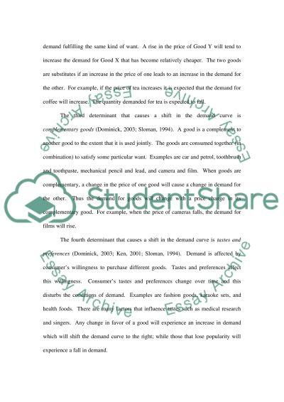 Demand Curve essay example