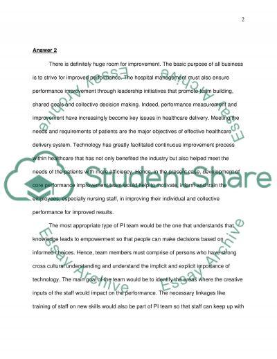 Case study on Western States University Hospital essay example
