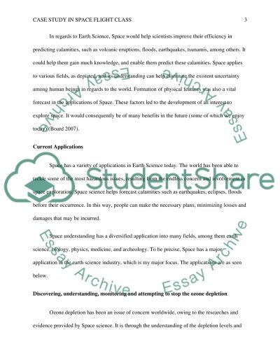 Case study in space flight class essay example