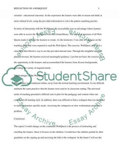 Step 2: Reflection Paper essay example