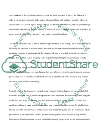 Philosophy of Life Essay essay example