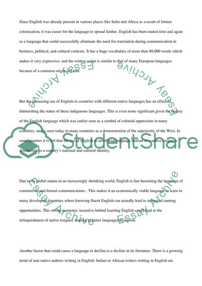 Essay On English Teacher  Health Care Essay also Proposal Essay Topics Ideas English As Global Langauge Essay Example  Topics And Well  Essay Paper Checker