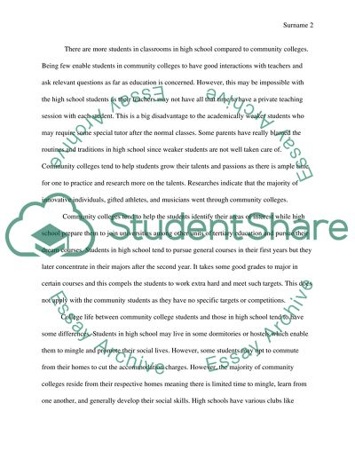 high school vs college essay example  topics and well written  high school vs college