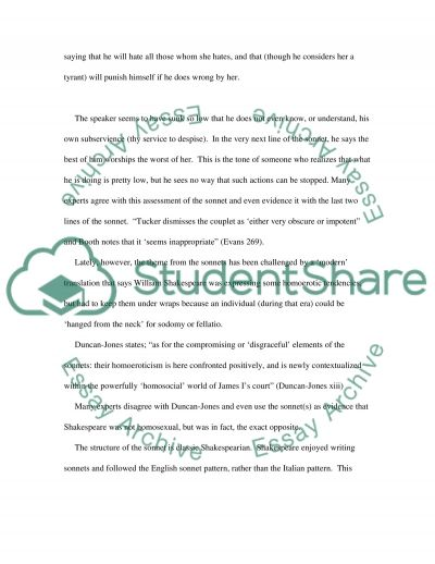 Shakespeares Sonnets essay example