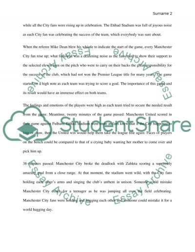 descriptive essay on a soccer match Click here click here click here click here click here write descriptive essay football descriptive essay example: the football field color rating.