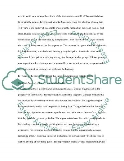 Corporate Stratergy essay example