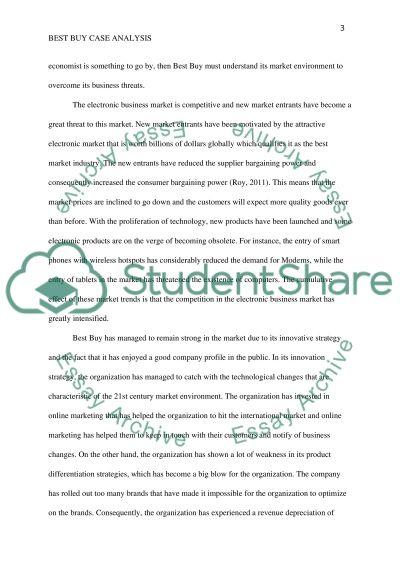 Case: Best Buy essay example