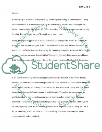 a clean well lighted place essay example topics and well  a clean well lighted place essay example text preview