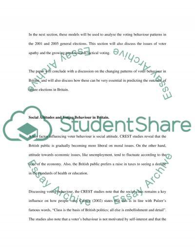 Voting Behaviour essay example