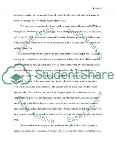 X-ray Documented Essay essay example