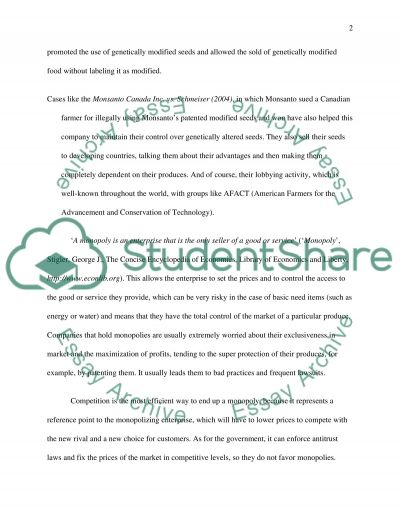 Analyze and discuss a monopoly essay example