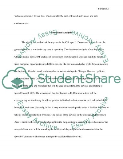 Day care in the chicago, IL downtown area essay example