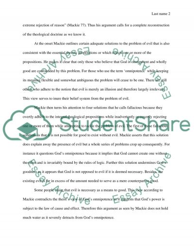 The Argument Against the Existence of God essay example