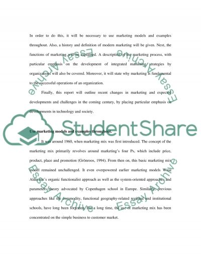 Businesses Marketing essay example