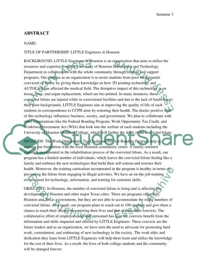 Grant proposal essay example