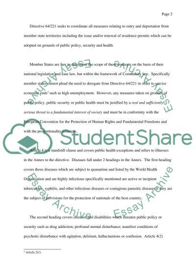 European Union Law College Essay