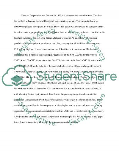Comcast Executive Summary essay example