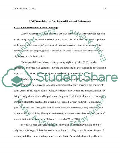 Employability Skills essay example