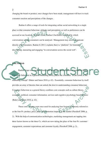 Consumer Behaviour Case Study essay example