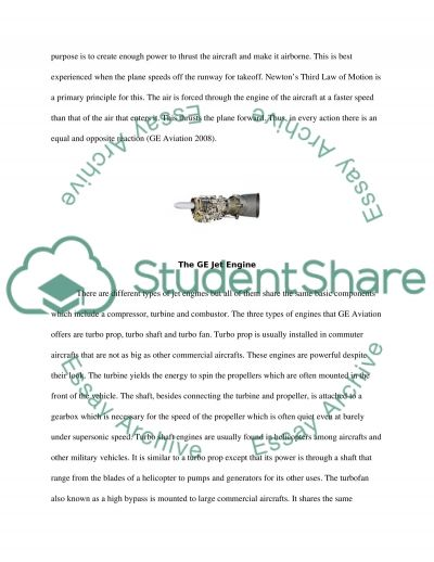 GE Aviation essay example