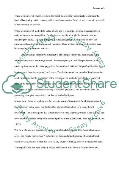 Investments class (Measure for t-bond & funds historical data) essay example