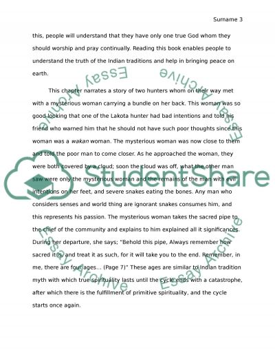 Journal: The Sacred Pipe essay example
