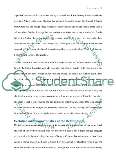 Interpersonal Communication Essay example