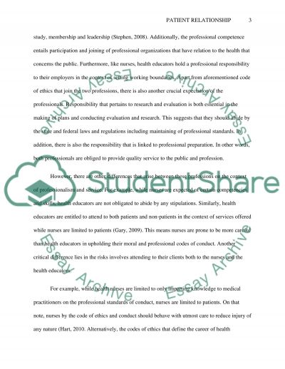 Provider-Patient Relationship essay example