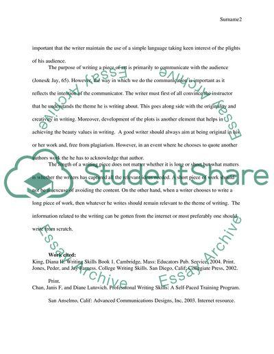 Reading and writing skills