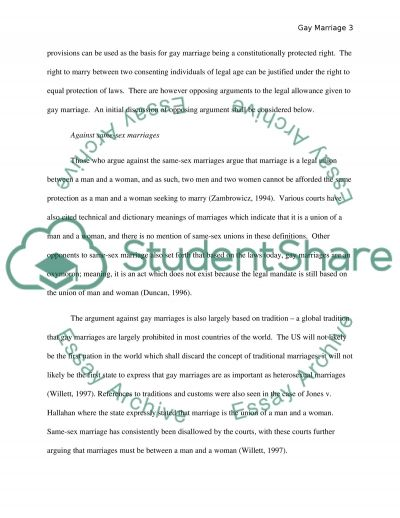 Gay Marriage Philosophy Research Paper essay example