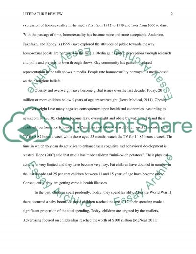 Negative Effects of Media on Children essay example