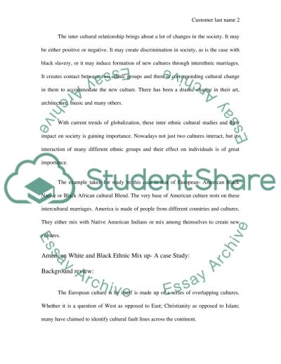 Blending of Two Cultures Essay example