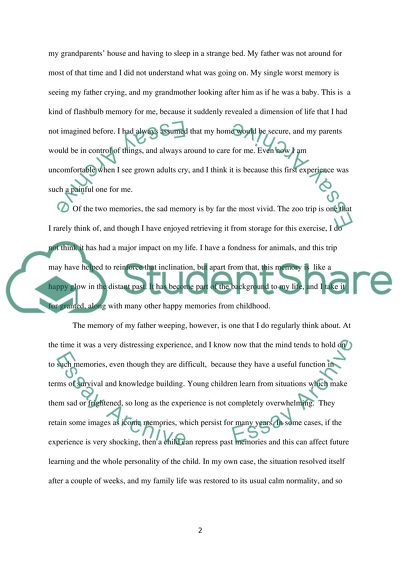 The Earliest Happy Memory And Sad Memory Essay Example  Topics And  The Earliest Happy Memory And Sad Memory