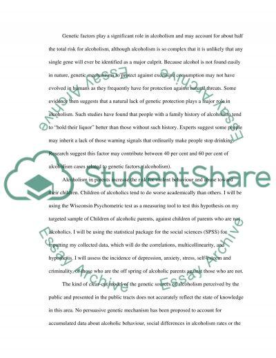 Alcoholic Abuse essay example