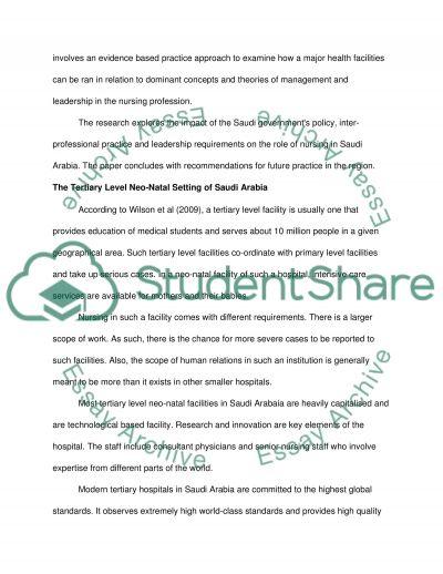 Leadership in nursing practice essay example