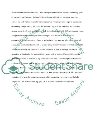 Academic elemtn essay example