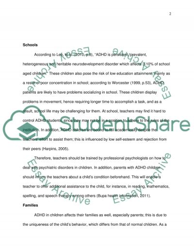 Understand Children with Attention Deficit Hyperactive Disorder essay example