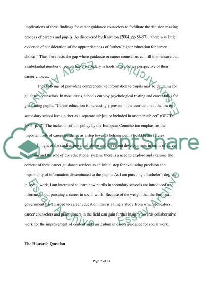 Research Project Research Paper example