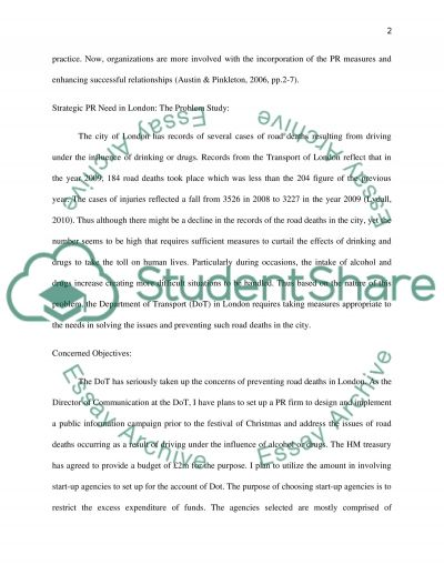 Public Relations Marketing Coursework essay example