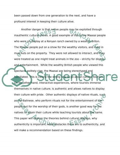 cultural tourism essay Top 20 interesting tourism essay topic ideas  does tourism have any cultural impacts on tourist areas if this is the case, what are these impacts on culture if .
