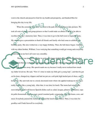 Quinceanera essay help